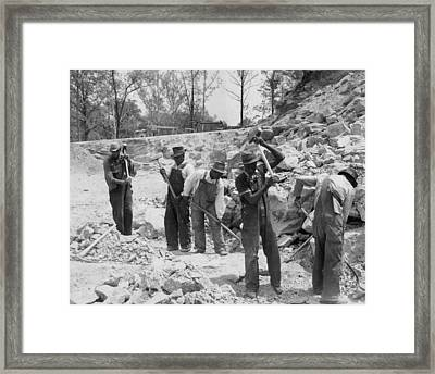 African American Convicts In A Southern Framed Print by Everett