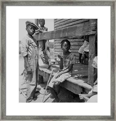 African American Farm Children Framed Print by Everett