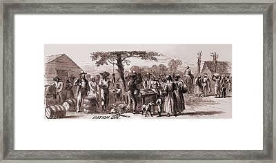 African American Freedmen Receiving Framed Print