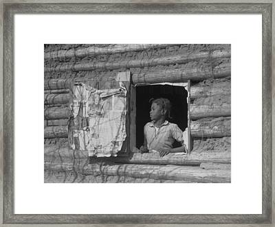 African American Girl Looking Framed Print by Everett