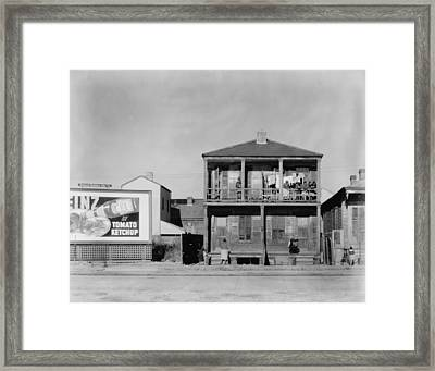 African American House, Titled Negro Framed Print