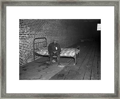 African American Man In Infirmary Framed Print by Everett