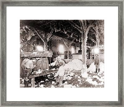 African American Men Working Framed Print by Everett