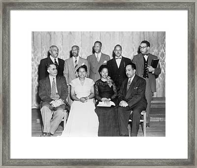 African American Poets At Jackson State Framed Print by Everett