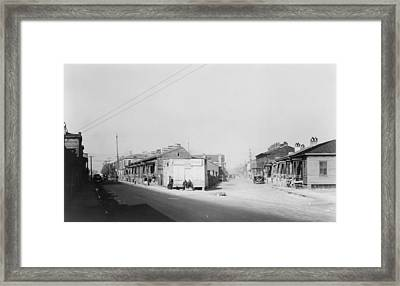 African American Quarter In Savannah Framed Print by Everett
