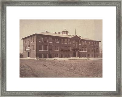 African American School, Original Framed Print by Everett