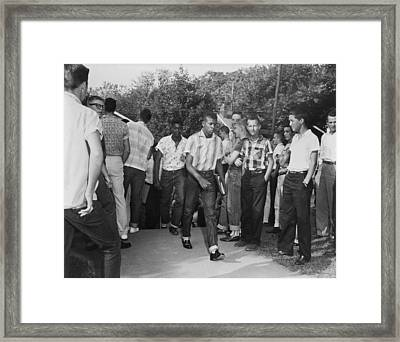 African American Students Arrive Framed Print
