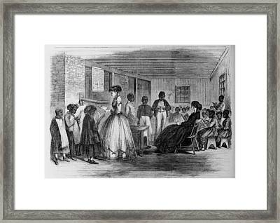 African American Students Framed Print by Everett