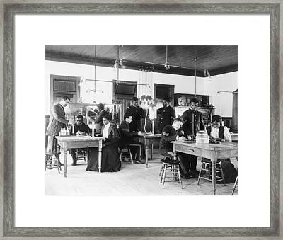 African American Students In A Class Framed Print