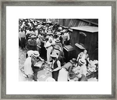 African American Victims Of The Tulsa Framed Print by Everett