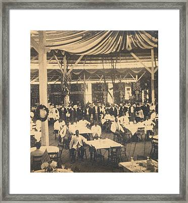African American Waiters At A Banquet Framed Print by Everett