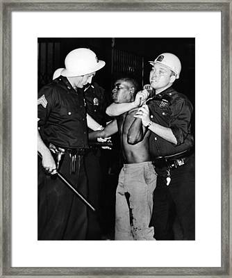 African American Who Has Been Shot Framed Print by Everett