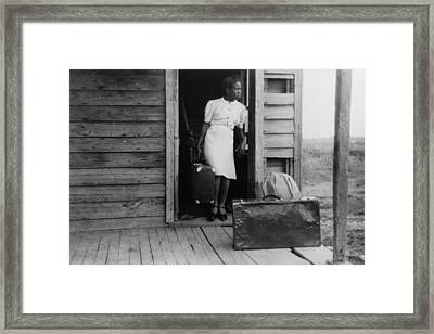 African American Women In A Doorway Framed Print by Everett