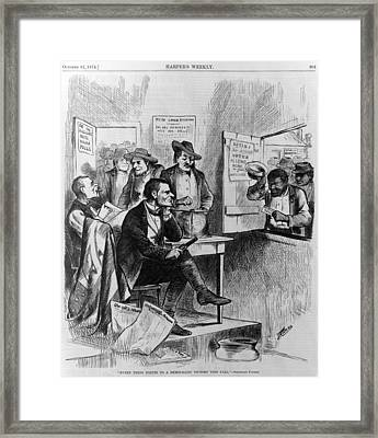 African Americans Being Discriminated Framed Print by Everett