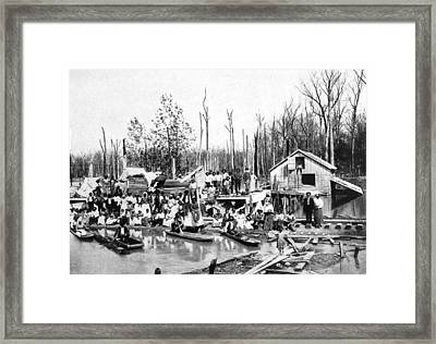 African Americans Left Homeless Framed Print by Everett