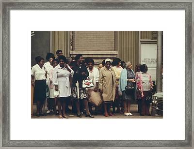 African Americans Mostly Women Waiting Framed Print by Everett