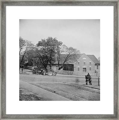 African Americans Standing In Front Framed Print by Everett