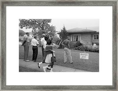 African Americans Viewing Framed Print by Everett