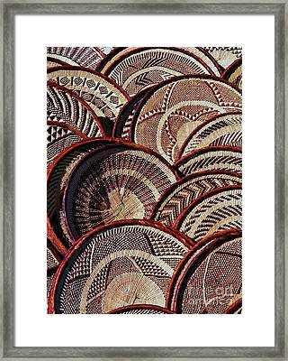 Framed Print featuring the photograph African Art Baskets by Werner Lehmann