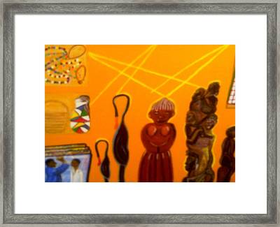 African Arts And Crafts Framed Print by Annette Stovall