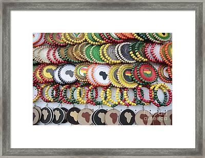 African Beaded Earrings Framed Print by Neil Overy
