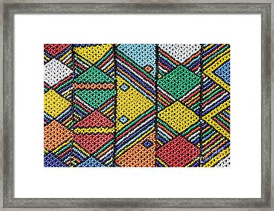 African Beadwork 1 Framed Print by Neil Overy