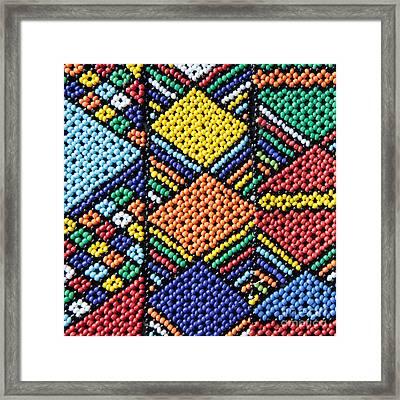 African Beadwork 2 Framed Print