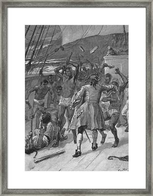African Captives Fight Against A 18th Framed Print by Everett