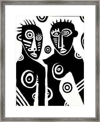 African Couple Framed Print by Robert Daniels