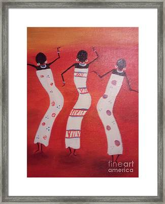 African Dance Framed Print by Lea Kirby
