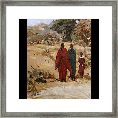 African Girls Framed Print