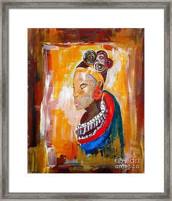 African Goddess Framed Print by EvaMaria Stollmayer