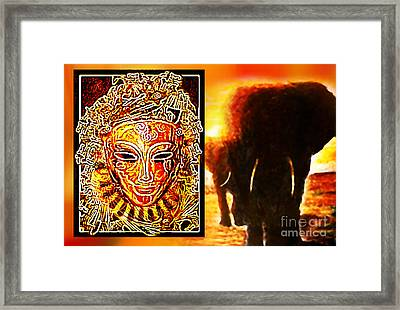 Framed Print featuring the digital art African Spirit by Hartmut Jager