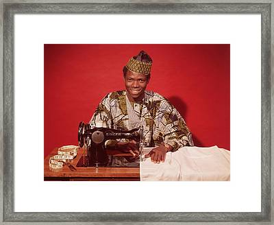 African Textile Framed Print by Chaloner Woods