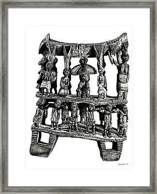 African Tribal Seat  Framed Print by Adendorff Design
