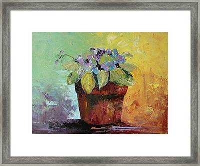 Framed Print featuring the painting African Violet by Carol Berning