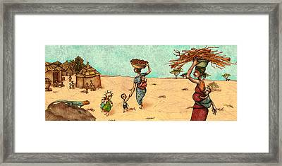 Africans Framed Print by Autogiro Illustration
