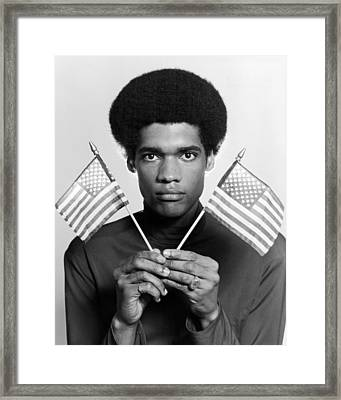 Afro American Framed Print by Leo Vals