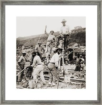 Afro-panamanian Construction Workers Framed Print by Everett