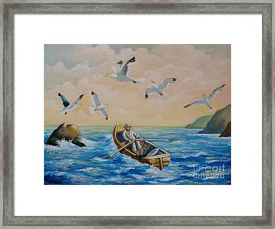 After A Fishing Day Framed Print