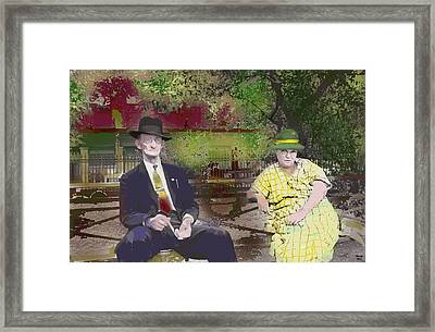 Framed Print featuring the mixed media After Church by Charles Shoup