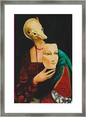 Framed Print featuring the painting After Da Vinci by Irena Mohr