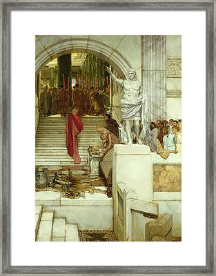 After The Audience Framed Print by Sir Lawrence Alma-Tadema
