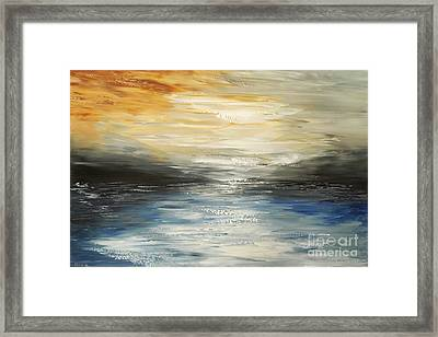 Framed Print featuring the painting After The Deluge by Tatiana Iliina