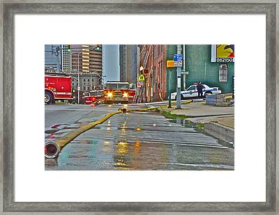 After The Fire Framed Print by Thomas Brown