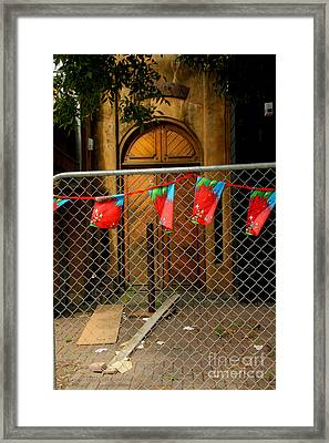 After The Quakes - No Go Zone Framed Print