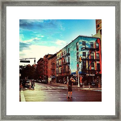 After The Rain In The East Village - New York City Framed Print