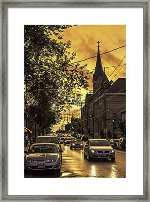 After The Rain Framed Print by Michael Wessel