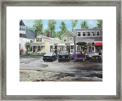 Framed Print featuring the painting After The Rain by Stuart B Yaeger
