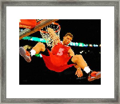 After The Slam Dunk Framed Print by Anthony Caruso